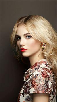 Beautiful Blonde Hair Woman Girl Model See iPhone 8 wallpaper