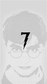 Harry Potter Art Minimal Film Gray iPhone 8 wallpaper