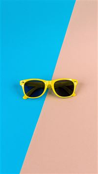 Minimal Glasses Pink Blue Yellow iPhone 8 wallpaper