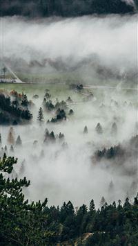 Fog Mountain Dawn Nature Cloud iPhone 8 wallpaper