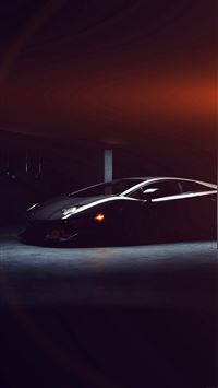 Lamborghini Car Dark Black Flare iPhone 8 wallpaper