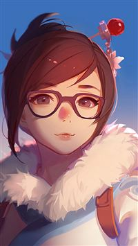 Mei Overwatch Game Art Illustration Cute iPhone 8 wallpaper