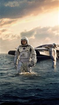 Interstellar Sea Film Space Art iPhone 8 wallpaper