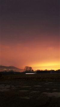 Dawn Nature Sky Sunset Mountain Red Dark iPhone 8 wallpaper