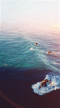 Surfing Wave Summer Sea Ocean Flare iPhone 8 wallpaper