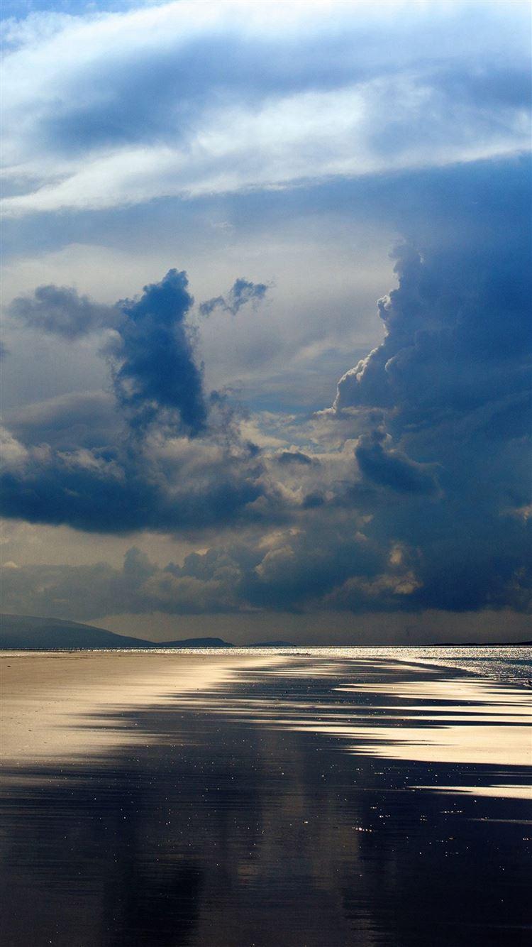 Beach Sea Summer Rain Cloud Nature iPhone 8 wallpaper
