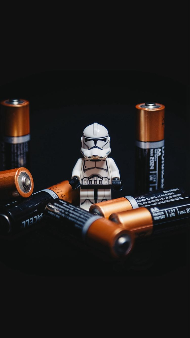 Starwars Toy Battery Cute Startroopers Art iPhone 8 wallpaper