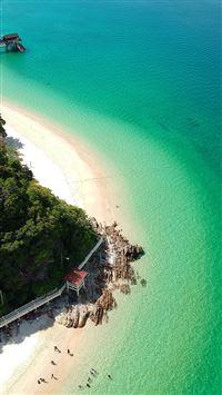 Lake Sea Vacation Island Nature iPhone 8 wallpaper