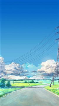 Sunny Sky Arsenic Art Iillustration iPhone 8 wallpaper