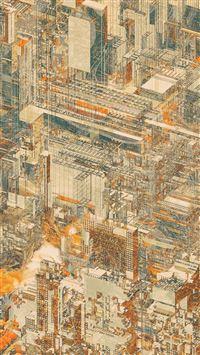 Digital Complex Art Pattern Background iPhone 8 wallpaper