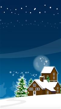 Christmas tree new year iPhone 8 wallpaper