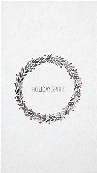 Minimal christmas art iPhone 8 wallpaper