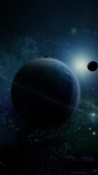 Planet ring star space iPhone 8 wallpaper