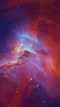 Star nebula glow iPhone 8 wallpaper