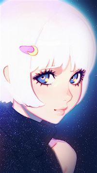 Illustration art girl iPhone 8 wallpaper