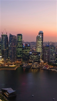 Singapore sunset iPhone 8 wallpaper