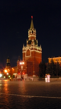 Red square kremlin iPhone 8 wallpaper