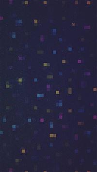 Digital dark color blue pattern background iPhone wallpaper