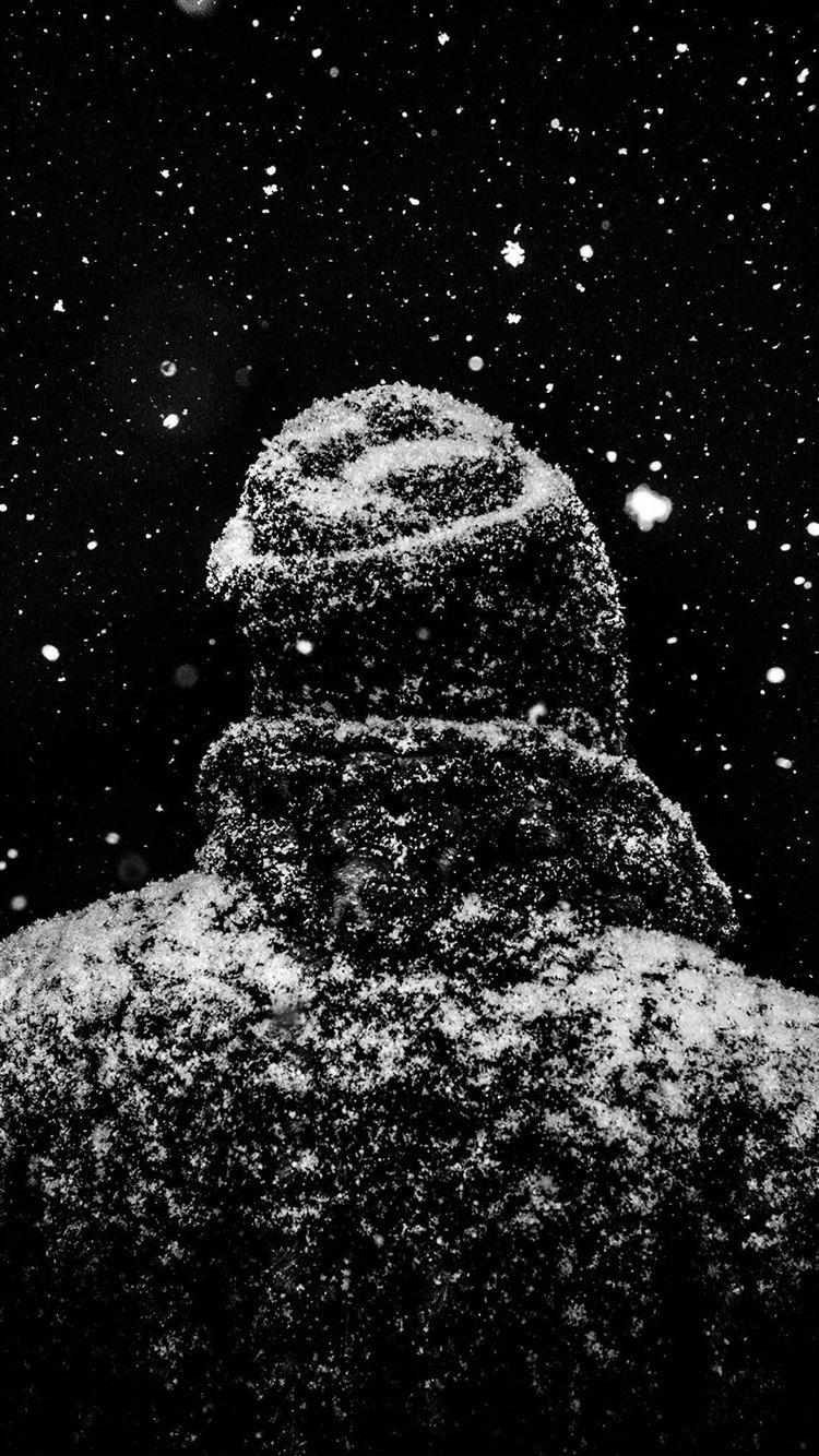 Snow winter dark man iPhone 8 wallpaper