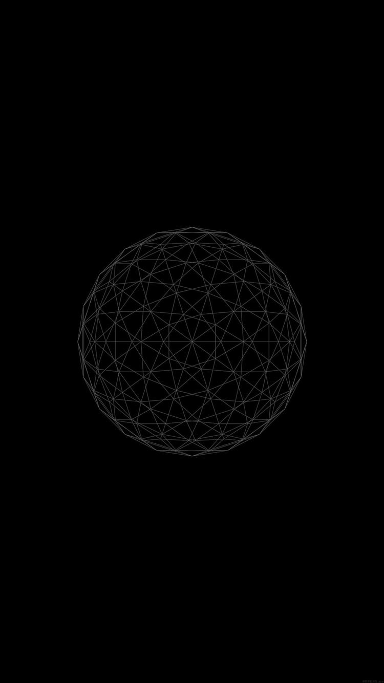 Line abstract circle 3d iPhone 8 wallpaper