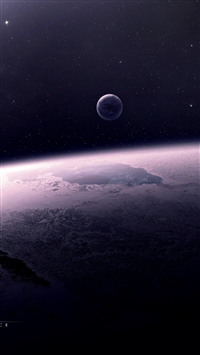 Star relief planet space iPhone 8 wallpaper