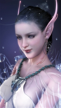 Girl elf ears iPhone 8 wallpaper