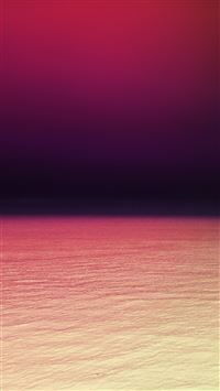 Calm sea purple red ocean water summer day iPhone 8 wallpaper