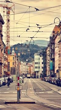 Innsbruck austria city architecture street iPhone 8 wallpaper