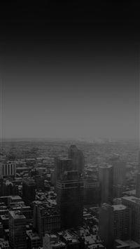 Urban sunrise black winter city skyview iPhone 8 wallpaper