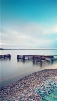 Lake calm beautiful sea water iPhone 8 wallpaper