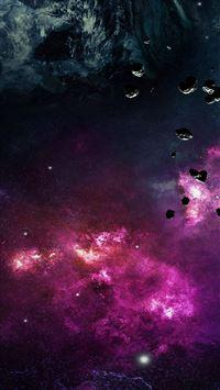 Space planet stars stellar dark iPhone 8 wallpaper