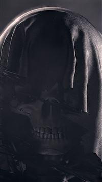 Dark skull deadman illustration art iPhone 8 wallpaper