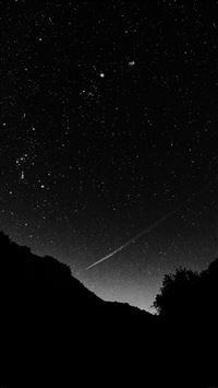 Space black sky night beautiful falling star iPhone 8 wallpaper
