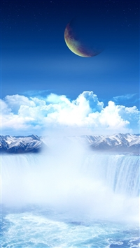 Planet heavens clouds light porous iPhone 8 wallpaper