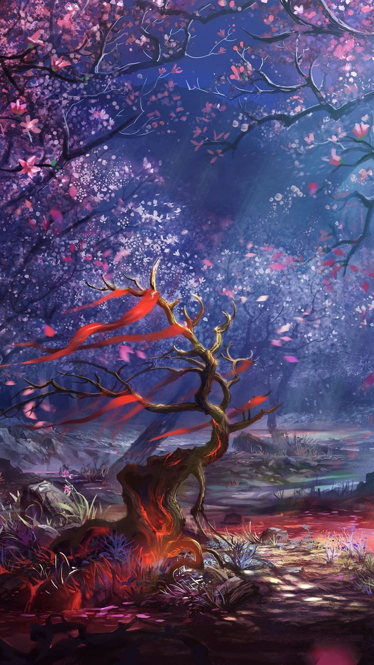Ruler of the land blood art forest iPhone 8 wallpaper