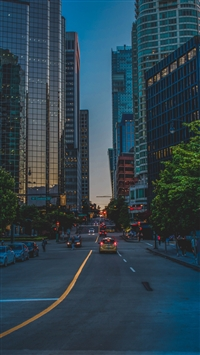 City street evening architecture iPhone wallpaper
