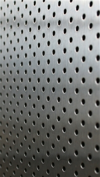 Metal points holes silver background iPhone 8 wallpaper