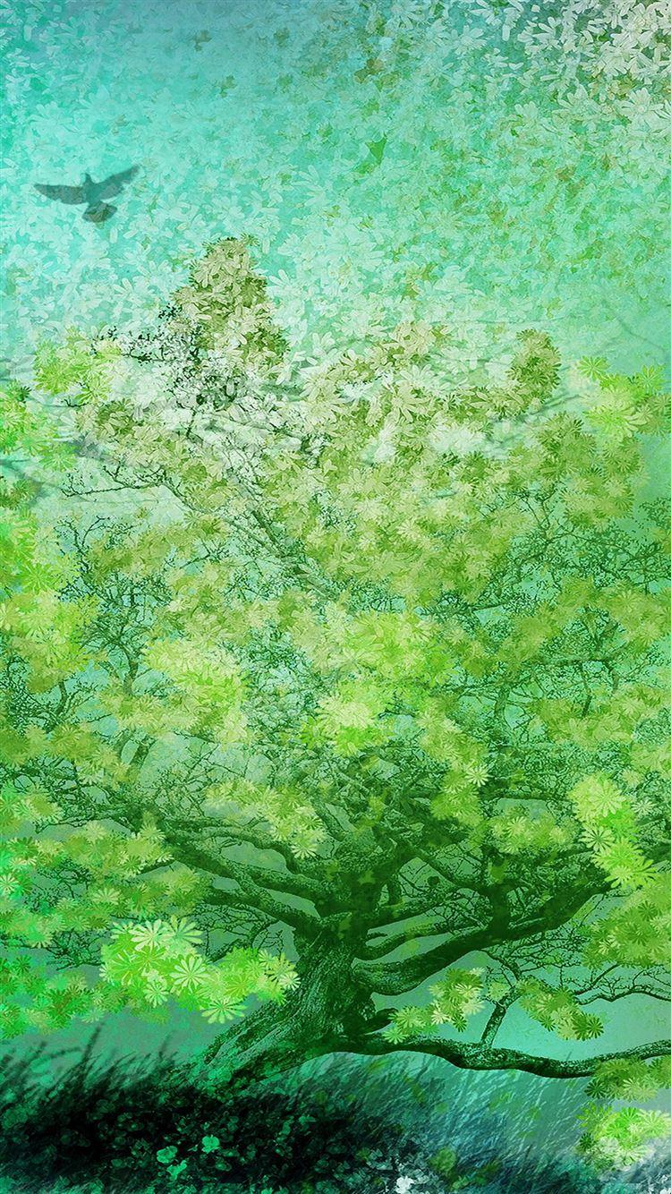 Flower spring art iPhone 8 wallpaper