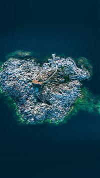 Island sea ocean iPhone 8 wallpaper