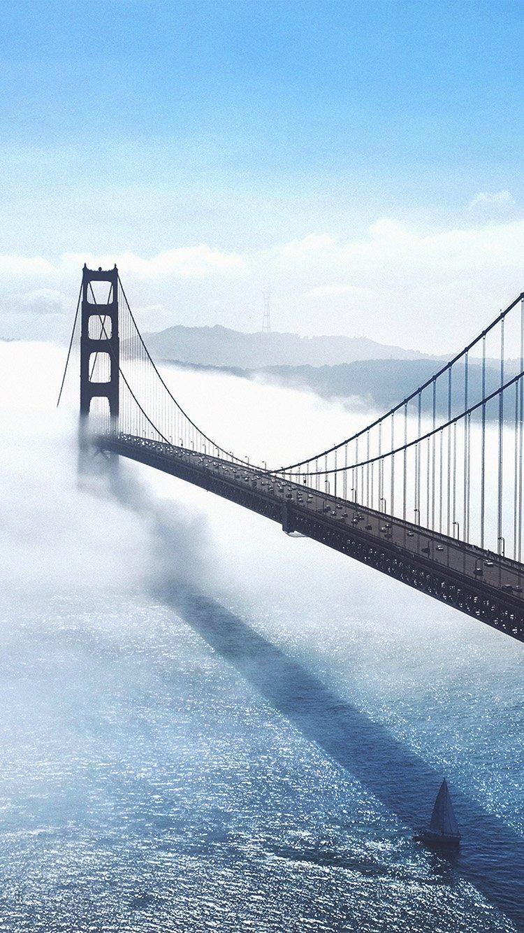 Bridge sea city iPhone 8 wallpaper