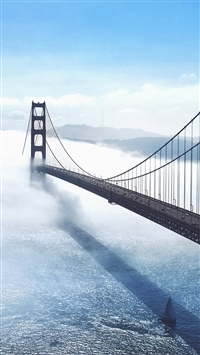 Bridge sea city iPhone 6(s)~8(s) wallpaper