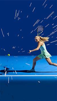 Tennis girl blue sports iPhone 8 wallpaper