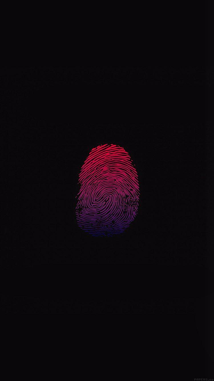 Finger print unlock art minimal iPhone 8 wallpaper