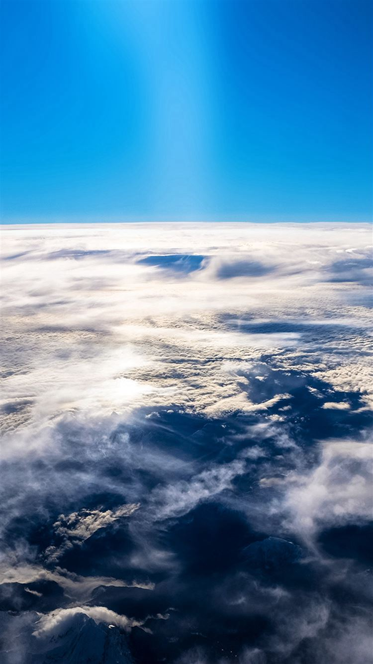Sky earth blue fly cloud sunny iPhone 8 wallpaper