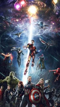 Avengers hero art iPhone 8 wallpaper