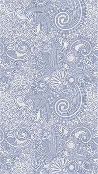 Design flower line blue pattern iPhone 8 wallpaper