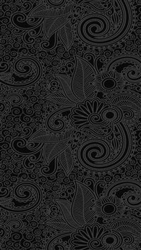 Design flower line dark pattern iPhone 8 wallpaper