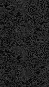 Design flower line dark pattern iPhone 8 wallpaper