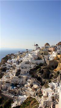 Calm-at-Santorini iPhone 8 wallpaper