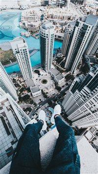 rooftop iPhone 8 wallpaper